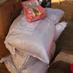 我们捐赠的120斤狗粮